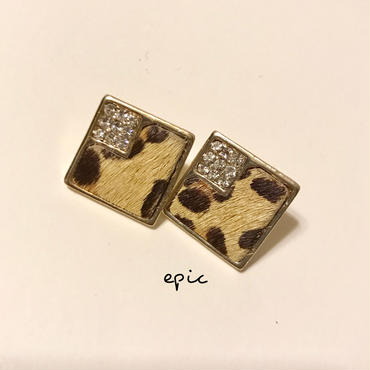 leopard  studs earrings