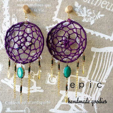 dreamcatcher fringe earrings