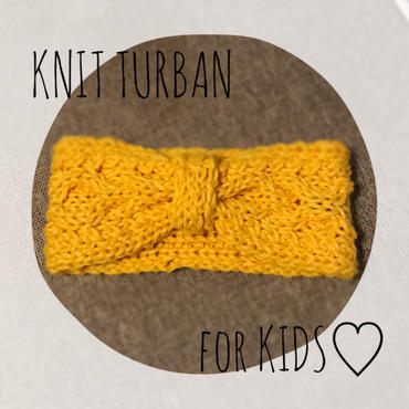 2WAY knit turban for kids
