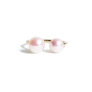 Pearl Double Head Ring Asymmetry (M)