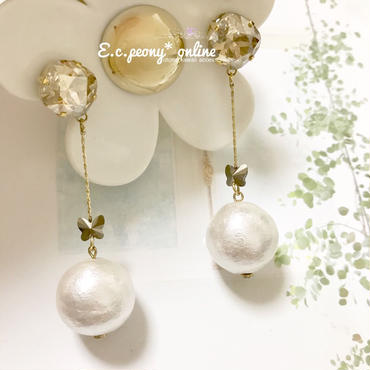 ~pearl&butterfly~イヤリング&ピアス