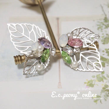 ~leaf butterfly~イヤリング&ピアス