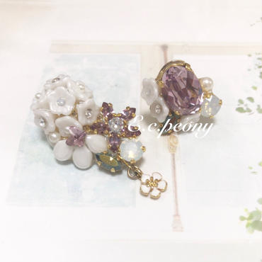 ~lilac butterfly~イヤリング&ピアス