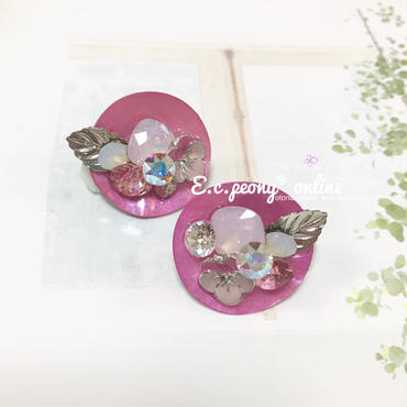 ~pink flower vace~イヤリング&ピアス