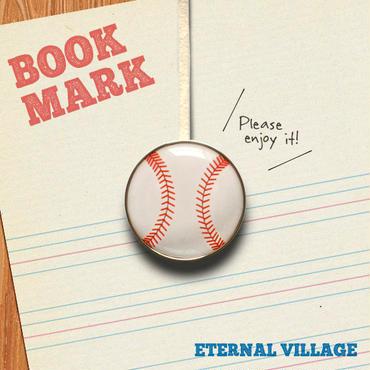 「野球ボール柄のクリップ型ブックマーク」no.021
