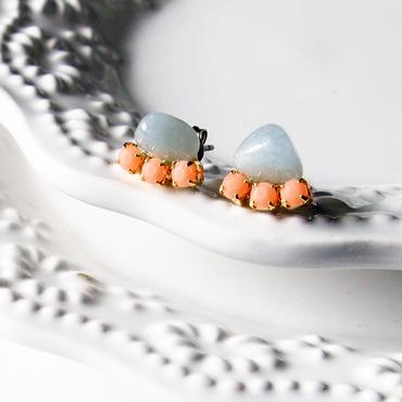 Gemstone  pierces - Aquamarine