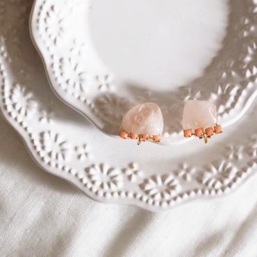 Gemstone earrings -  Rose quartz
