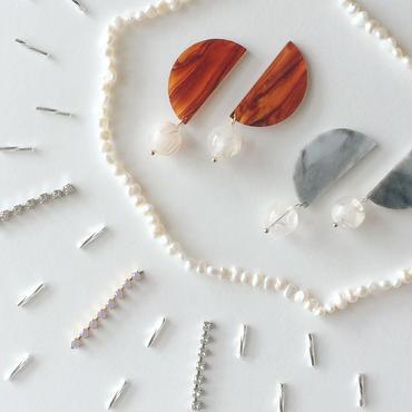 Harf moon pierces / earrings