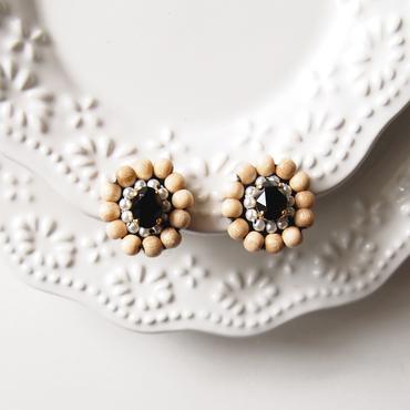 Wood bijou earrings - Jet