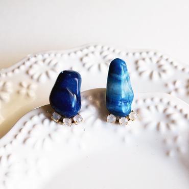 Gemstone  pierces - Blue agate