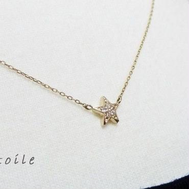 K10YG etoile ✧ダイヤ ペンダント