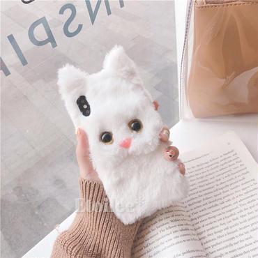 White cat fur iphone case