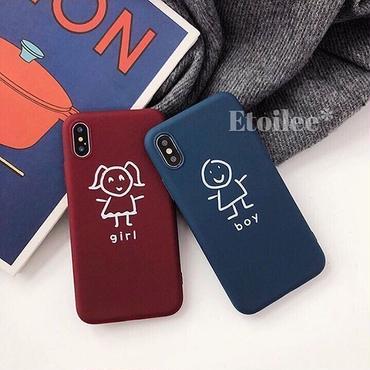 Boy girl TPU iphone case