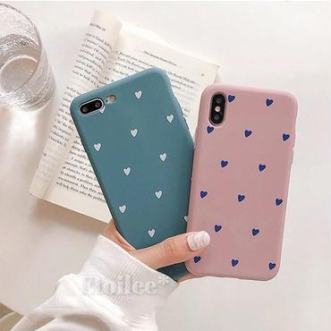 Heart pink blue iphone case
