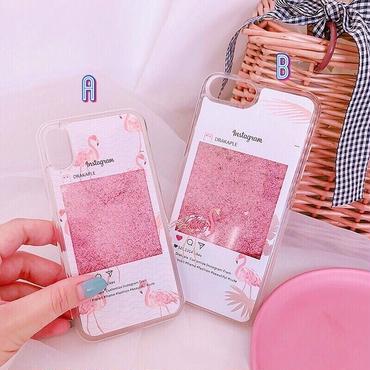 Flamingo instagram quicksand iphone case