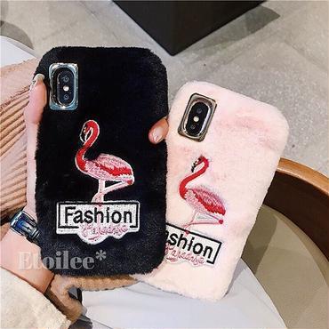 Flamingo fur iphone case