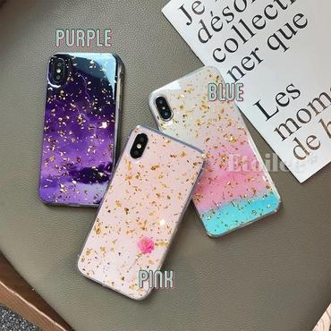 Color gold glitter iphone case