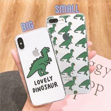Dinosaur clear iphone case
