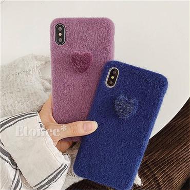 Heart fur button iphone case