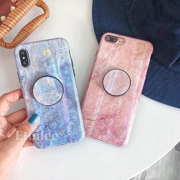 Marble laser with stand iphone case