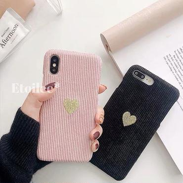 Pink black heart iphone case
