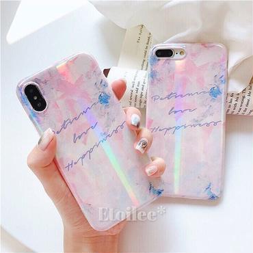 Pink letter laser iphone case