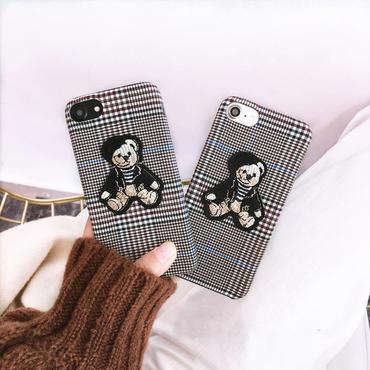 Bear check iphone case
