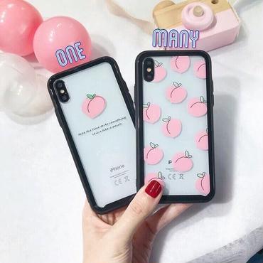 Peach black side iphone case