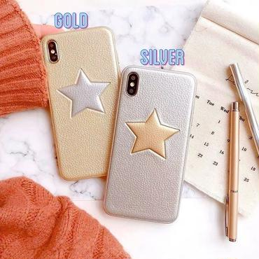 Silver gold star iphone case