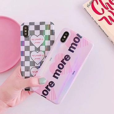 Heart letter laser iphone case