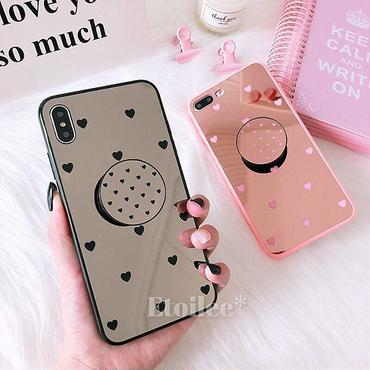 Heart mirror with stand iphone case