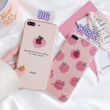 Peach clear iphone case
