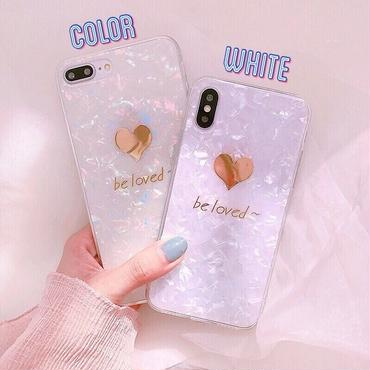 Gold be loved shell iphone case