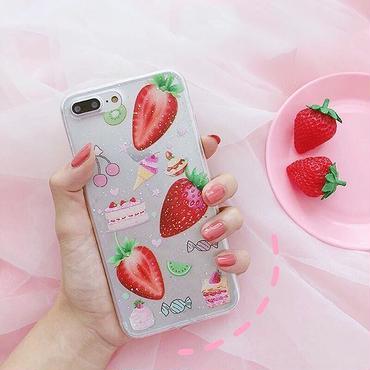 Strawberry cake iphone case