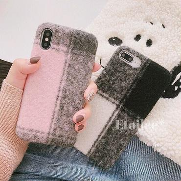 Pink black check iphone case