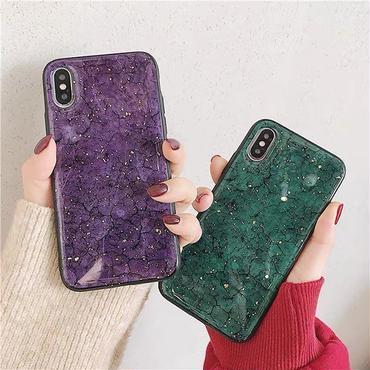 Green purple marble iphone case