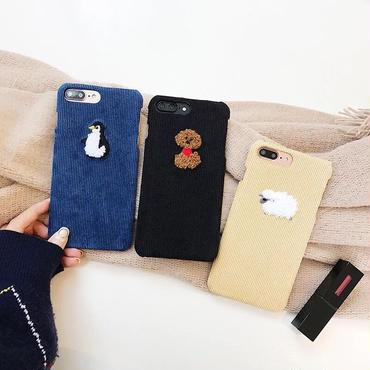 Animal fabric iphone case