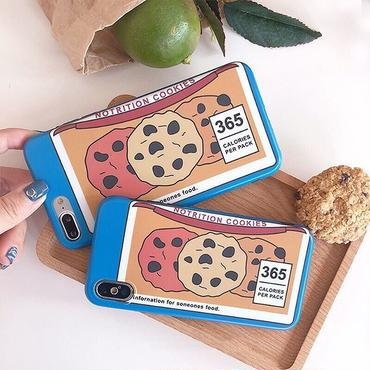 Blue cookie iphone case