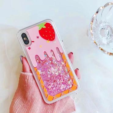 Strawberry icecream quicksand iphone case
