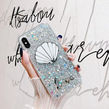 Clam silver  iphone case