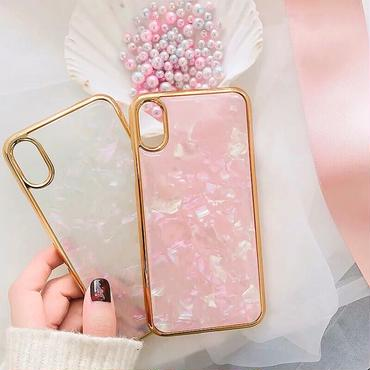 Jewel marble GOLD side iphone case