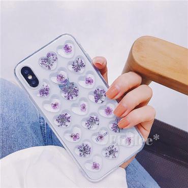 Flower purple heart iphone case