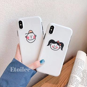 White boy and girl iphone case