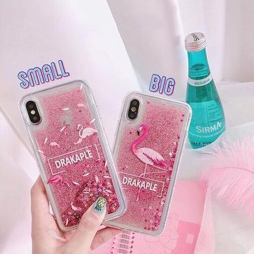 Flamingo quicksand iphone case
