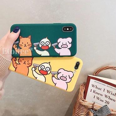 Green yellow animal iphone case