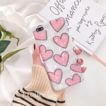 Pink heart shell iphone case