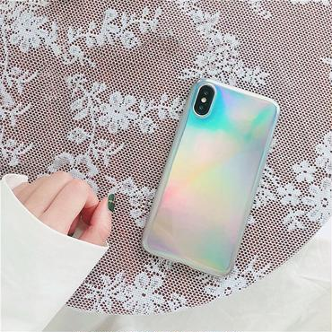 Silver laser iphone case
