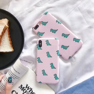 Pink dinosaur with stand iphone case