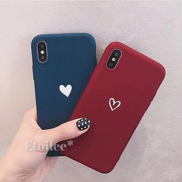 Red blue heart iphone case