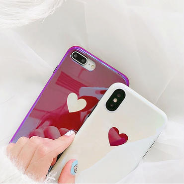 Wine red white heart iphone case